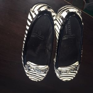 Black and White Zebra Loafers